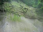 土砂が堆積したような地形