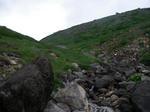 最後の滝を登ったところ