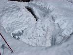 塩見小屋は雪の中